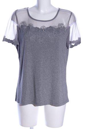 Himmelblau T-Shirt hellgrau meliert Casual-Look