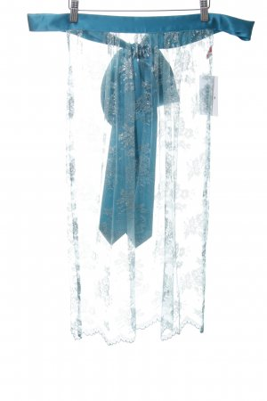 Himmelblau Grembiule tradizionale blu motivo floreale elegante