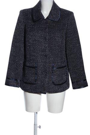 Himmelblau Blazer en tweed moucheté style décontracté