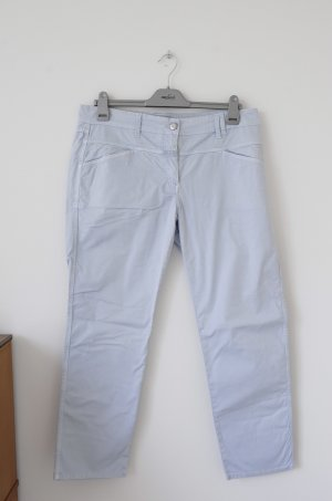 Closed Low-Rise Trousers azure cotton