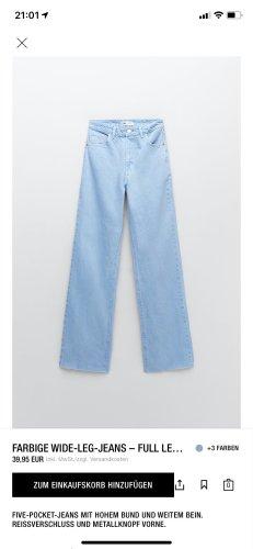 Himmelblauer Breit geschnittene Hose