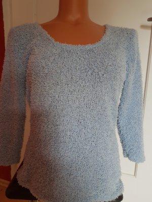 Sweter z okrągłym dekoltem błękitny