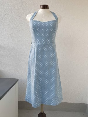 Apart Halter Dress white-pale blue