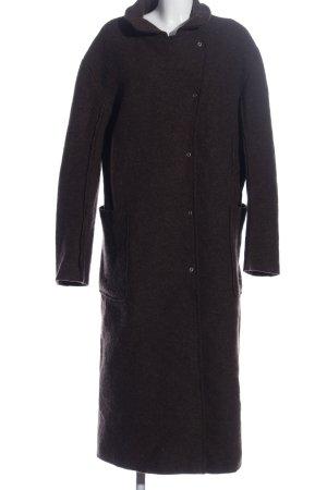 Hindahl & Skudelny Manteau long gris clair moucheté style décontracté