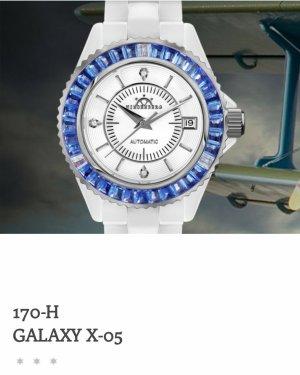 Hindenberg Reloj con pulsera metálica blanco