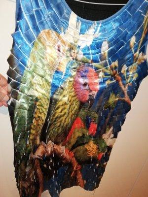 Hingucker! Cooles Designer Kleid Mayaadi mit bunten Papageien Gr 38/40