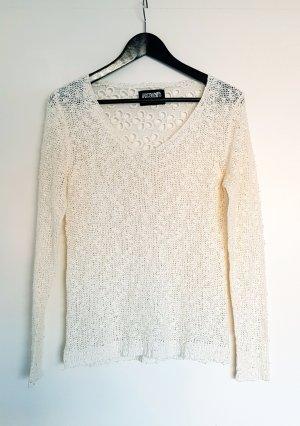 Hingucker-Pullover in Creme-Weiß