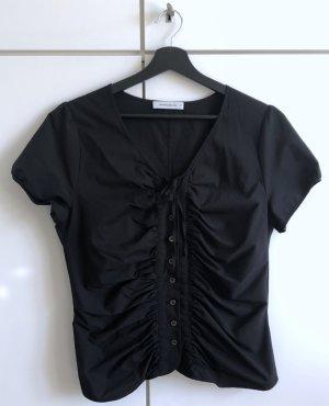 Hinreißende schwarze Bluse von René Lezard