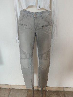 Blue Fire Skinny Jeans light grey mixture fibre