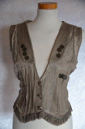 Be Inn Gilet en jean marron clair tissu mixte