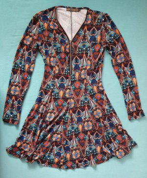 QED London Robe à manches longues multicolore polyester