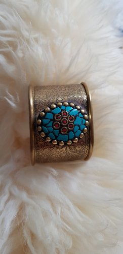 Bangle gold-colored-turquoise