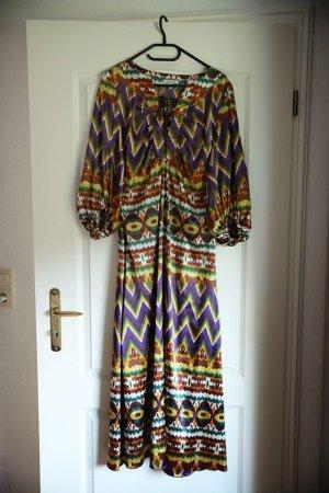 Apart Sukienka boho Wielokolorowy Tkanina z mieszanych włókien