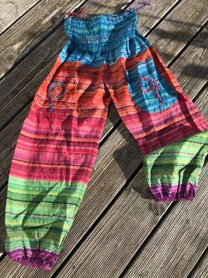 Aus Indien Pantalon large multicolore