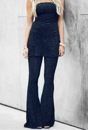 Nelly Trend Palazzo Pants black polyester