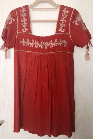 Hippie Kleid Gr. 34 rot