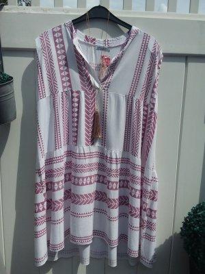Hippie Dress white-dusky pink