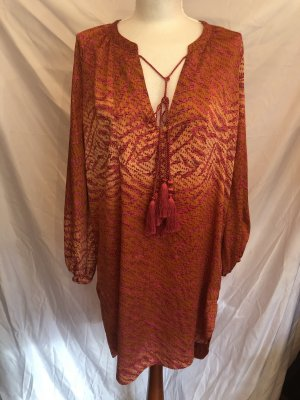 H&M Conscious Collection Robe Hippie orange fluo-rouge