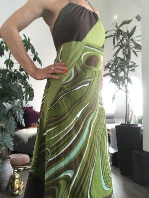 Robe dos-nu multicolore coton