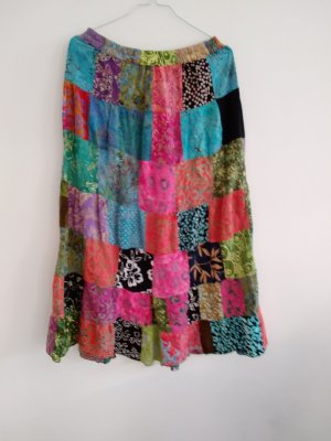 Vintage Bazaar Hippie Dress raspberry-red-cornflower blue