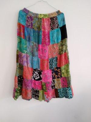 Vintage Bazaar Abito hippie rosso lampone-blu fiordaliso