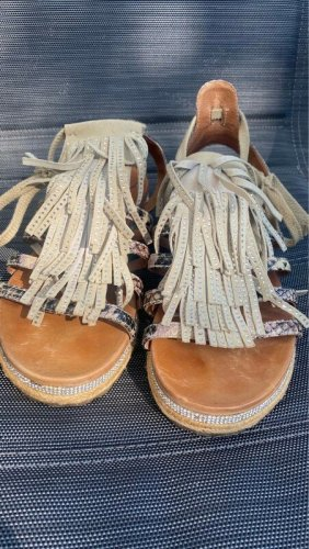 Made in Italy Comfortabele sandalen veelkleurig Leer
