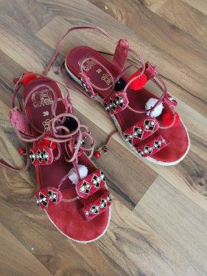 Hippie Sandalen mit Bommeln