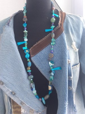 handmade unikat Statement Necklace multicolored