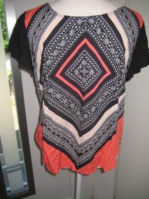 Hippie Shirt schwarz Orange Mexx Gr 40