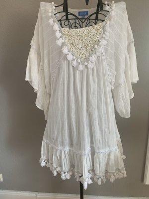 happy island Beach Dress white cotton