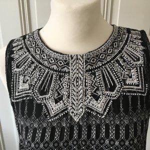 H&M Vestido playero negro-blanco