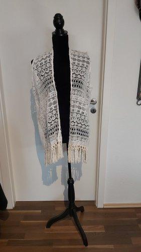 Fringed Vest white