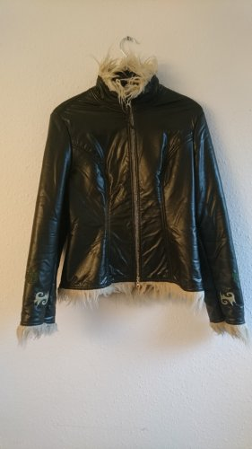 Hippie Winter: Eco Leder Jacke