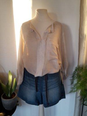 Be Inn Transparante blouse veelkleurig Zijde