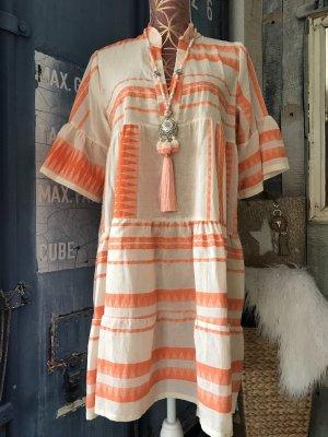 new collection Abito hippie crema-arancione Cotone