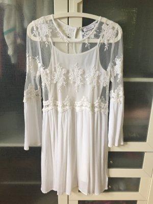 Aniston Vestido Hippie blanco