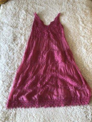aus Italien Hippie Dress magenta viscose