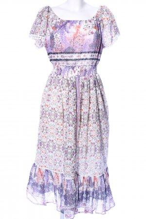 peace + love Hippie Dress white-lilac allover print casual look