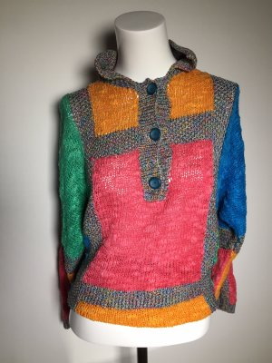 VINTAGE  70er Knitted Bolero multicolored