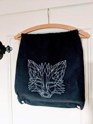 Stoffen tas donkerblauw-wit