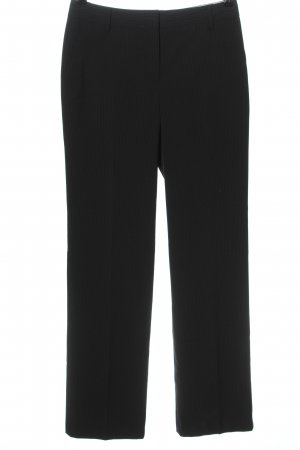 Hirsch Pantalone da abito nero motivo a righe stile professionale