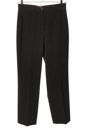 Hirsch Pantalon à pinces noir style d'affaires