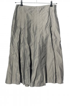 Hirsch Godet Skirt light grey wet-look