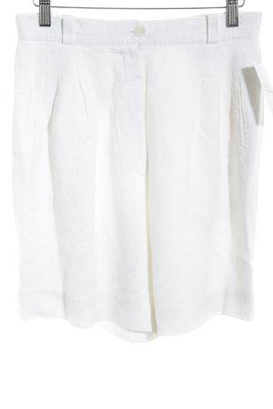 Hirsch High-Waist-Shorts weiß Casual-Look