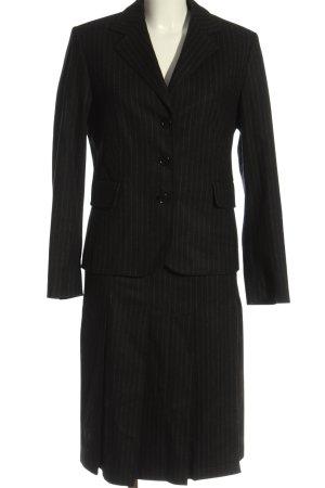 Hirsch Tailleur nero-grigio chiaro motivo a righe stile casual