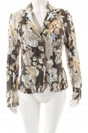 Hirsch Langarm-Bluse florales Muster Casual-Look