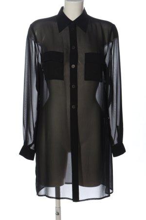 Hirsch Langarmhemd schwarz Elegant
