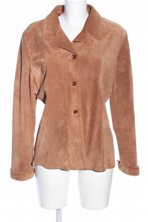 Hirsch Leather Blazer nude casual look