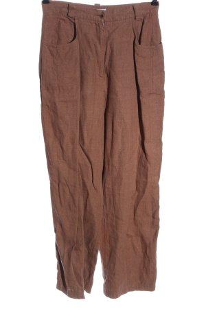 Hirsch Linnen broek bruin casual uitstraling