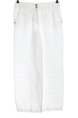 Hirsch Pantalon en lin blanc style décontracté